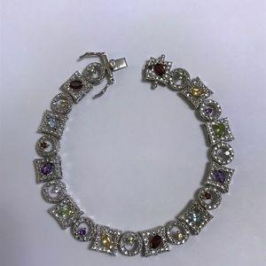 Jewelry - Sterling silver color stone bracelet